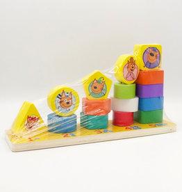 """Деревянная игрушка-пирамидка """"Три кота: мама, папа, я"""""""
