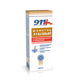 911 911,  Onion Shampoo for Hair Loss and Baldness, 150ml