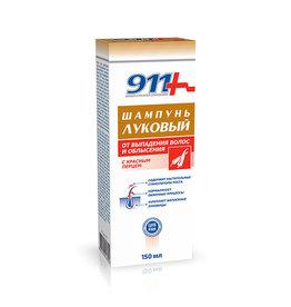 911 911, Шампунь Луковый от Выпадения Волос и Облысения с Красным Перцем