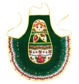 Фартук ''Матрешка-хозяюшка'' (зеленый)