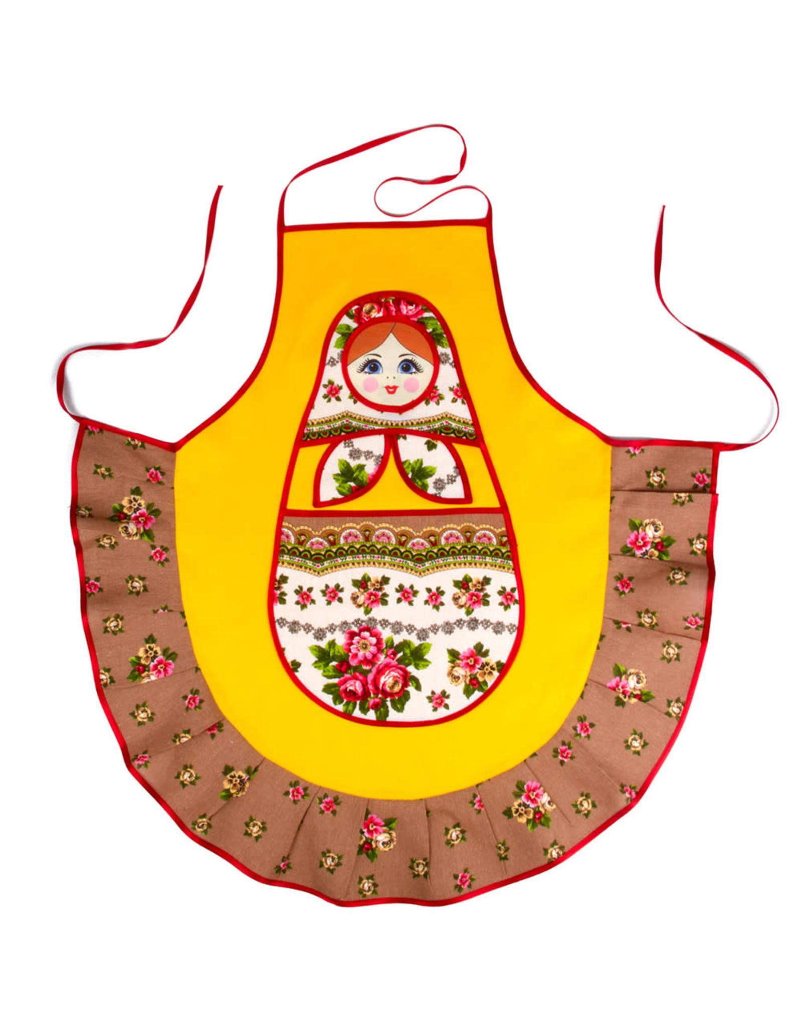 Фартук ''Матрешка-сударушка'' (желтый)