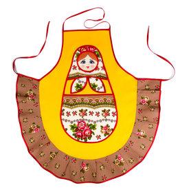 Apron '' Matryoshka-Sudarushka '' (yellow)