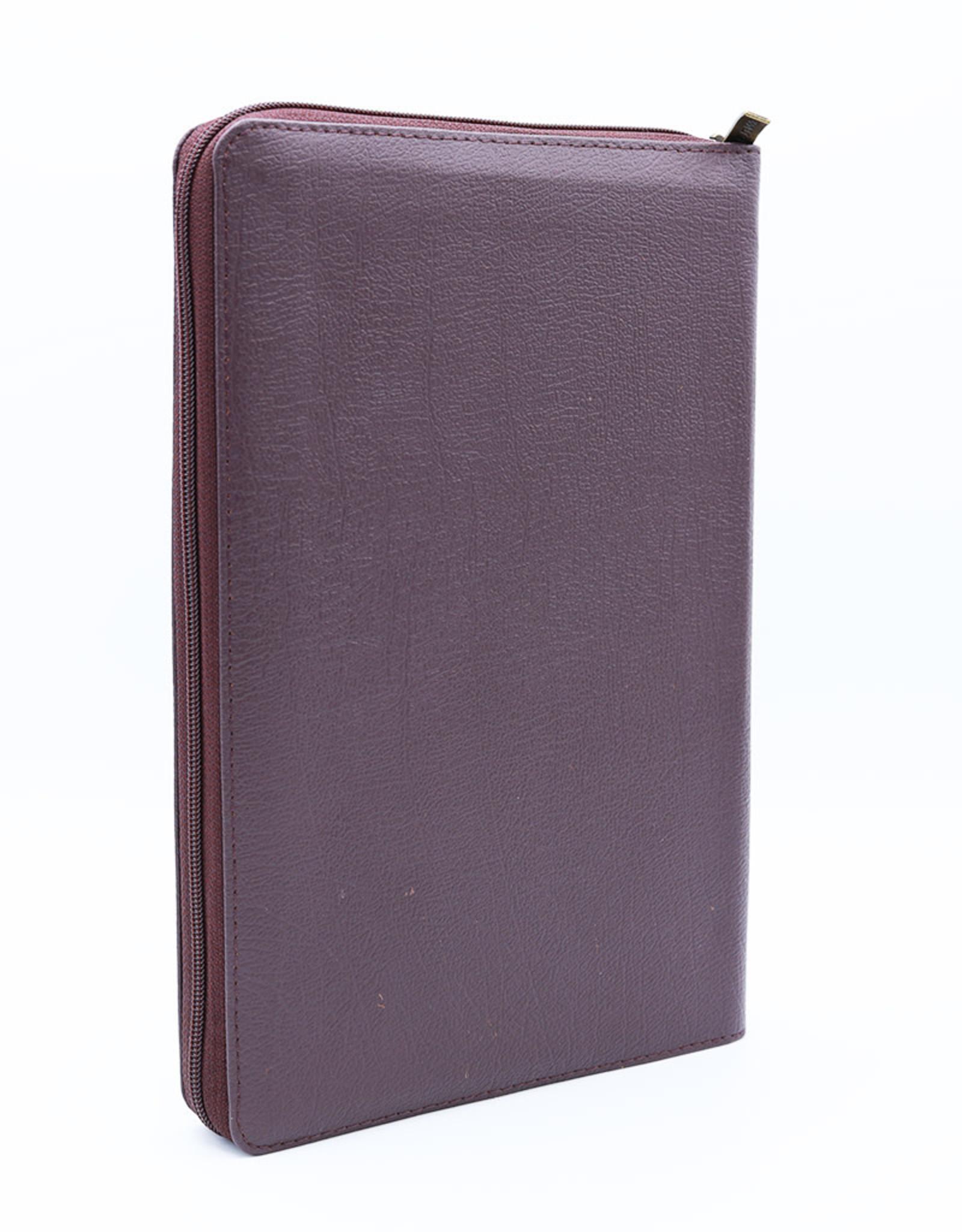 Библия, Каноническая (SYNO), Leather with Zipper, Large Burgundy