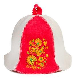 """Sauna Hat """"Hohloma"""""""