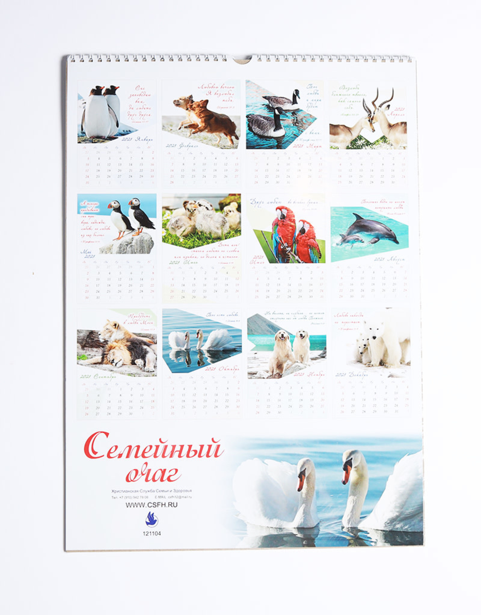 Семейный Очаг, Календарь