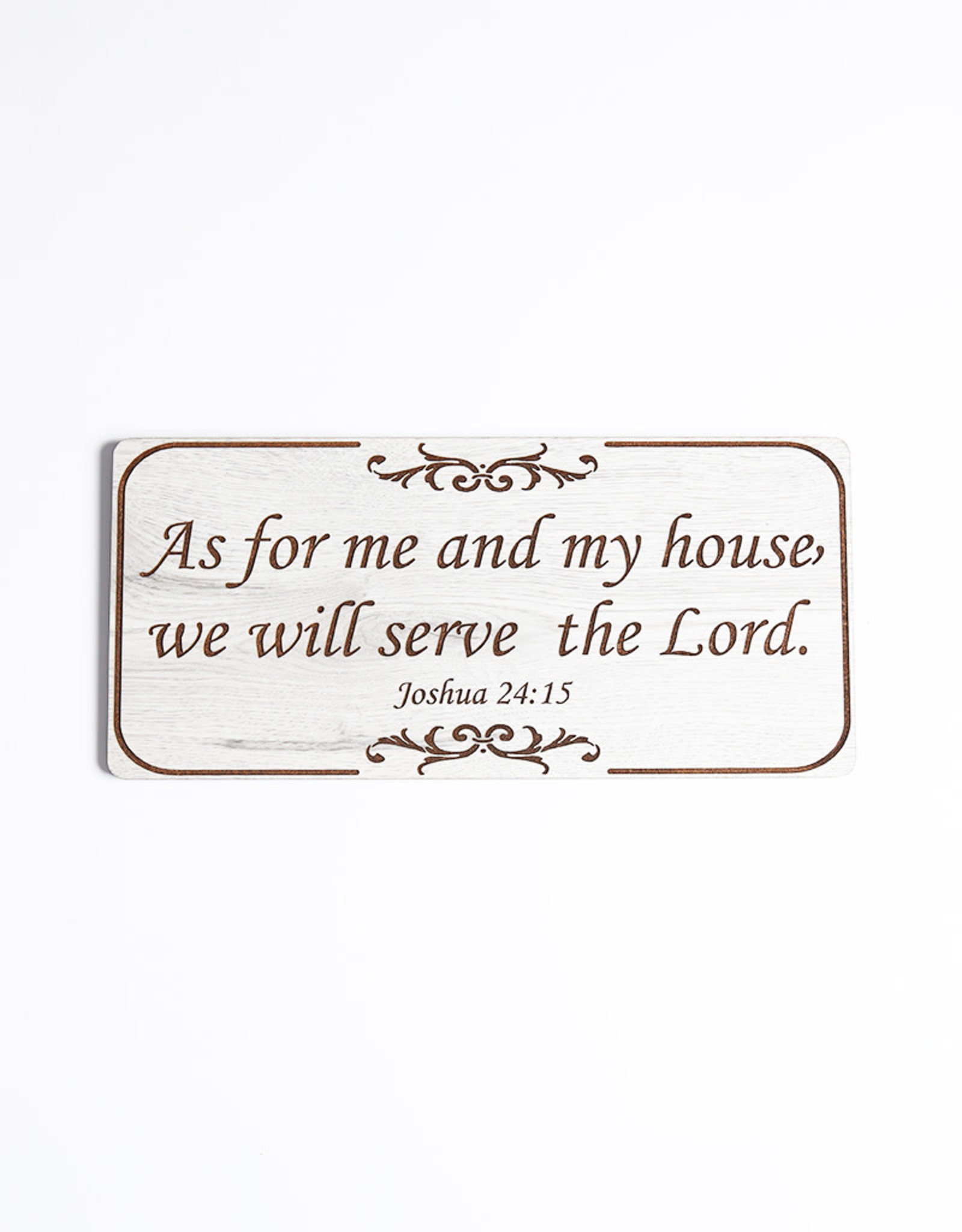 Wood Wall Plaque, Joshua 24:15