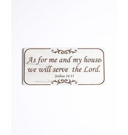 Wood Wall Plaque, Joshua 24:15