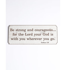 Wood Wall Plaque, Joshua 1:9, Large