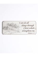 Wood Wall Plaque, Philipians 4:13, Large