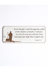 Wood Wall Plaque, Psalm 23:4, Large