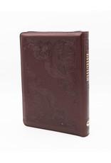 Библия, Каноническая (SYNO), Заменитель Кожи, Бардовая Узор, Индексы, Средняя