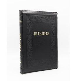Библия, Каноническая (SYNO), Заменитель Кожи, Черная с узорам, Индексы, Большая