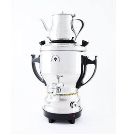 Stainless Steel Samovar 3 liters, Black Handles