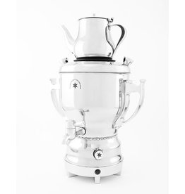 Stainless Steel Samovar 3 liters, Silver Handles