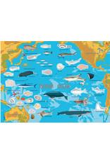 Атлас океанов с многоразовыми наклейками