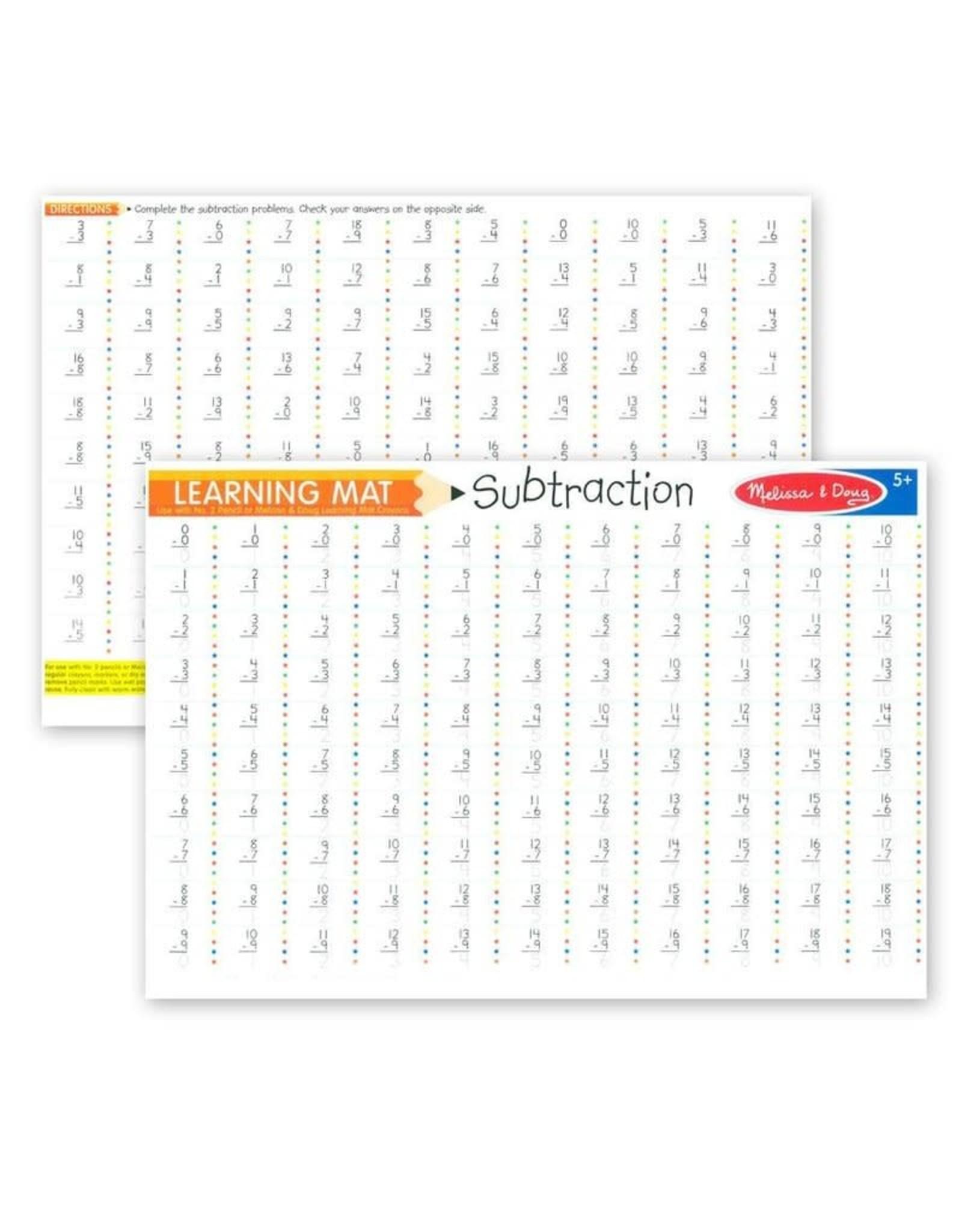 Melissa & Doug Learning Mat, Subtraction