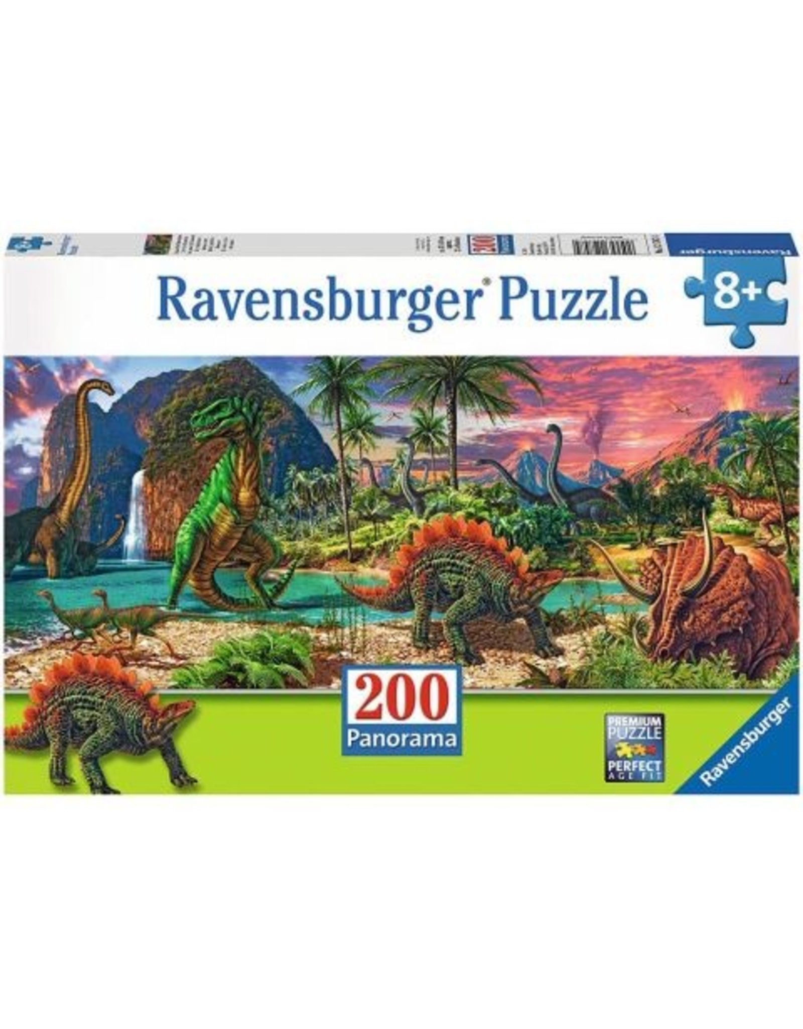 In the Land of the Dinosaurs Panoramic 200pc puzzle