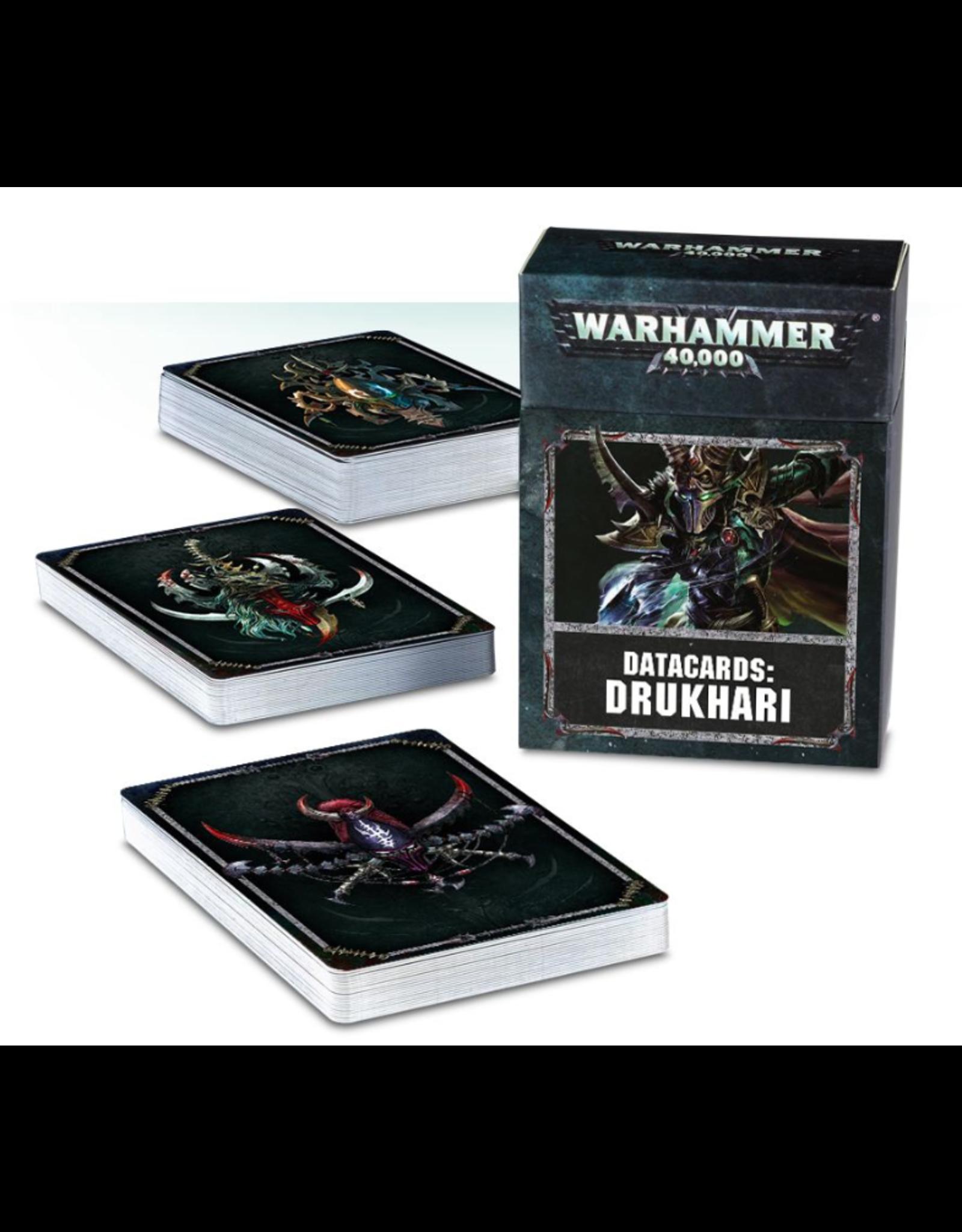 Warhammer 40K Datacards Drukhari
