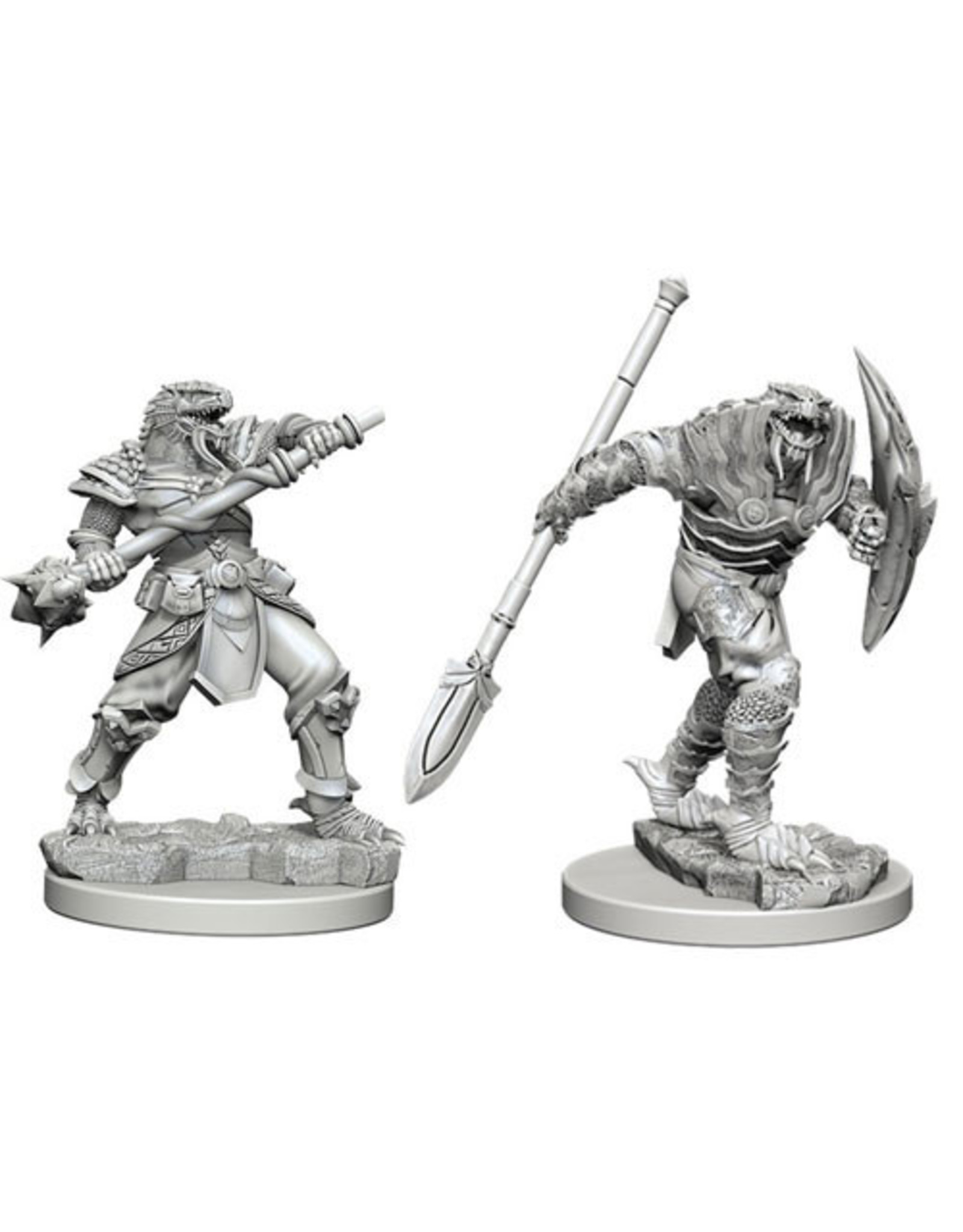 Dungeons & Dragons D&D NMU Dragonborn Male Fighter w/ Spear