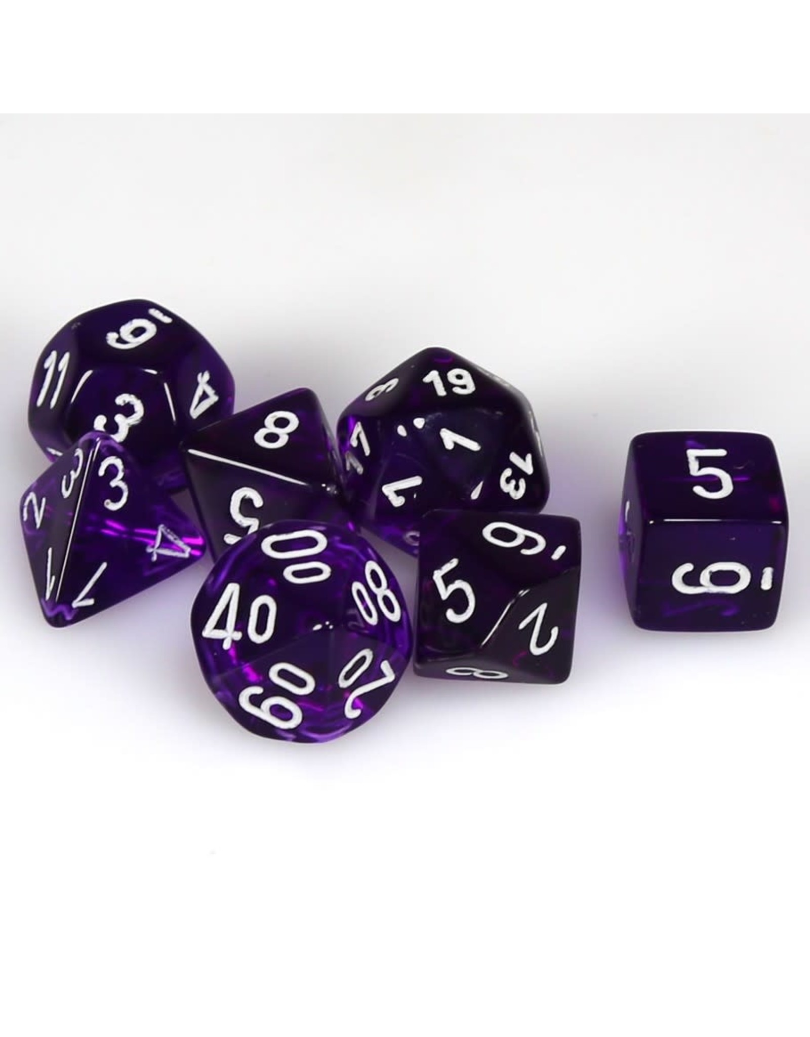 7 Die Set Translucent Purple/White