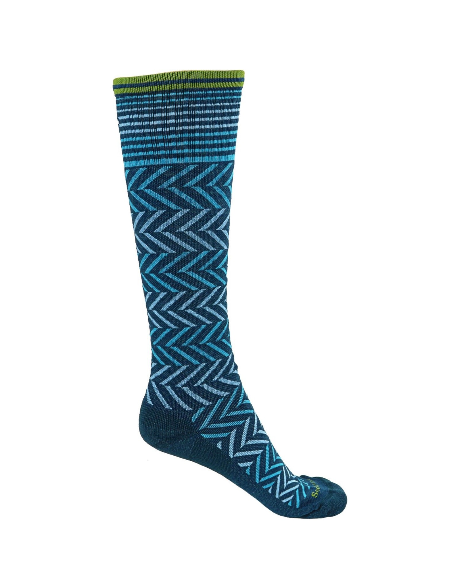 Sockwell Compression Chevron Teal S-M
