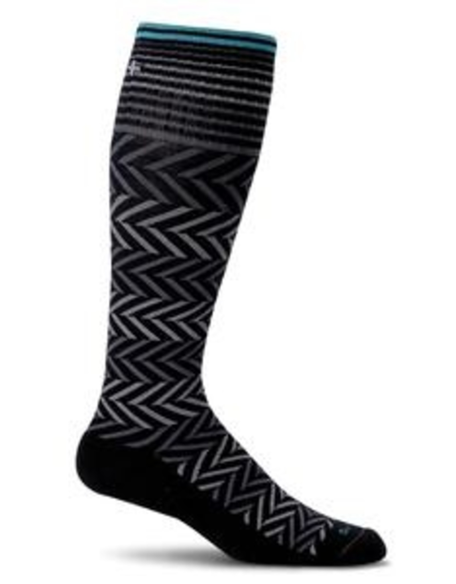 Sockwell Compression Chevron Black 2 S-M