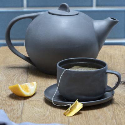 BeHome Stoneware Tea Pot - Slate