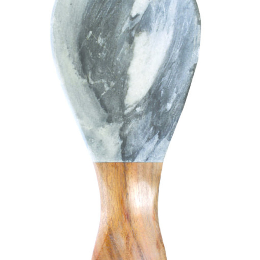 BeHome Gray Marble Wood Spoon Rest