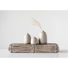Bloomingville 3-1/2 Terra Cotta Vase-Grey