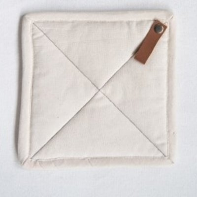 """Bloomingville 8"""" Square Cotton Pot Holders- Off White"""