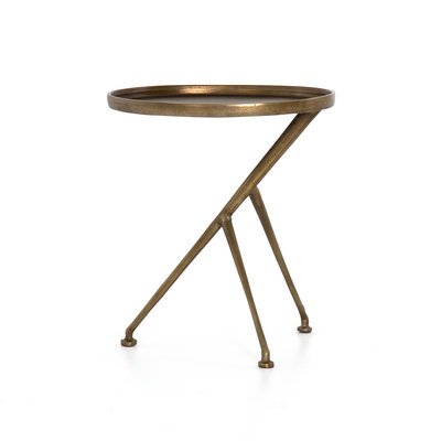 Blake Accent Table Antique Brass