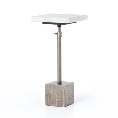 Sirus Adjustabe Accent Table- Gun Metal