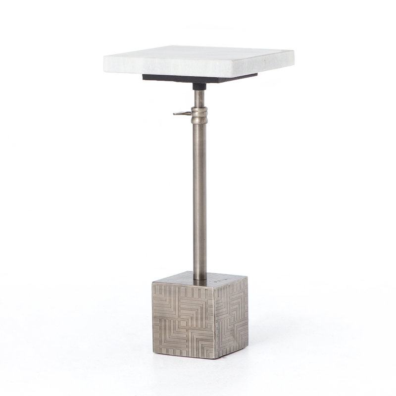 Sirus Adjustabe Accent Table- Gun Metal