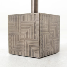 Four Hands Sirus Adjustabe Accent Table- Gun Metal