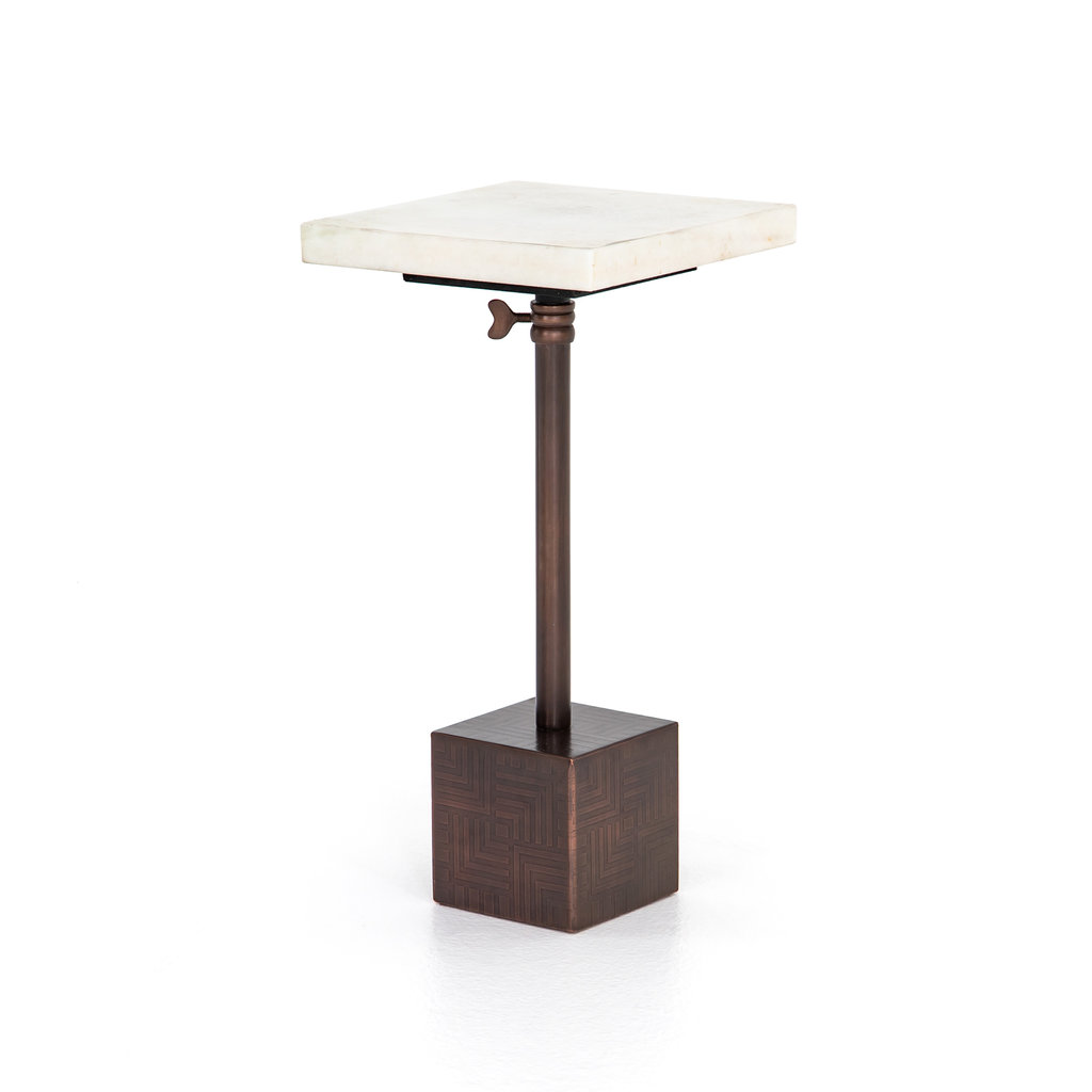 - Sirus Adjustable Accent Table Bronze