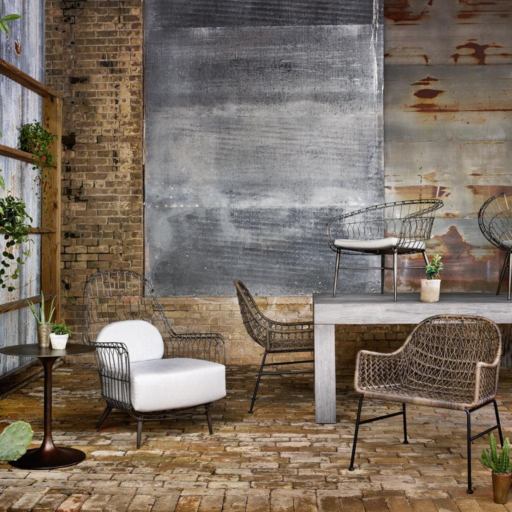 Tulip Side Table-Antique Rust