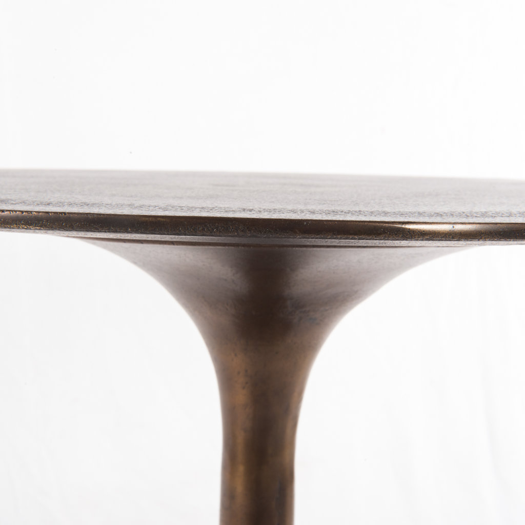 Tulip Side Table-Antique Rust