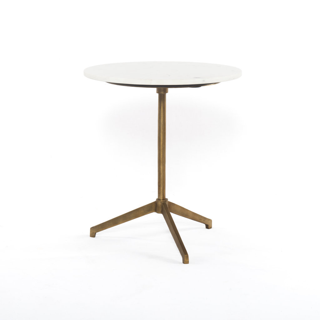 Four Hands Henry Side Table Marble Brushed Brass