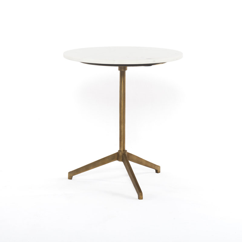 Henry Side Table Marble Brushed Brass