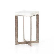 Leanne End Table - Brushed Nickel