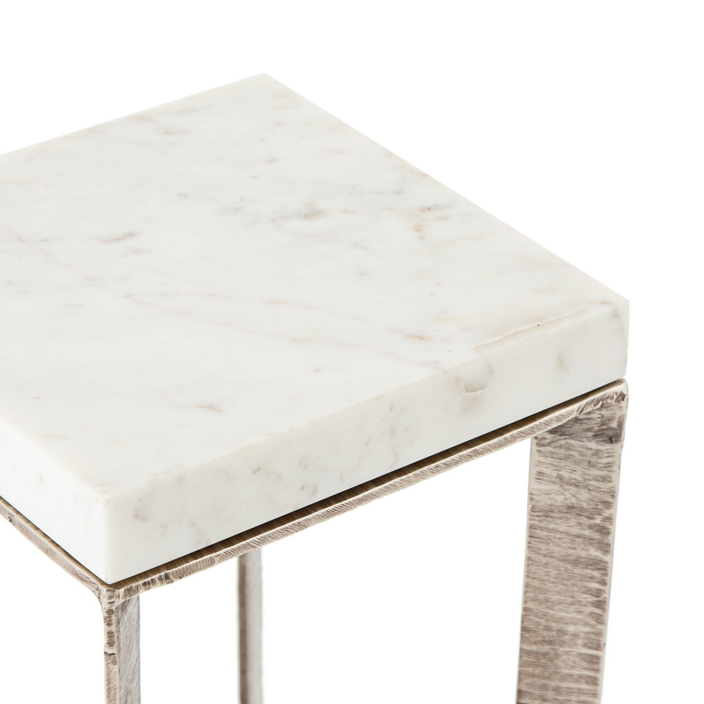Four Hands Leanne End Table - Brushed Nickel