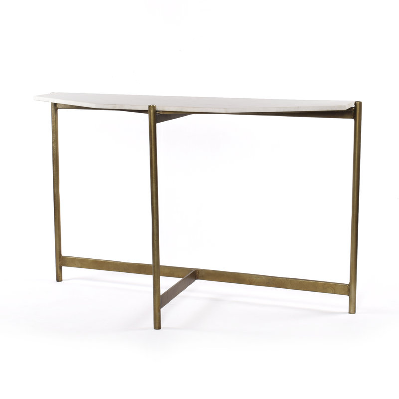 Emily Marble and Brass Console