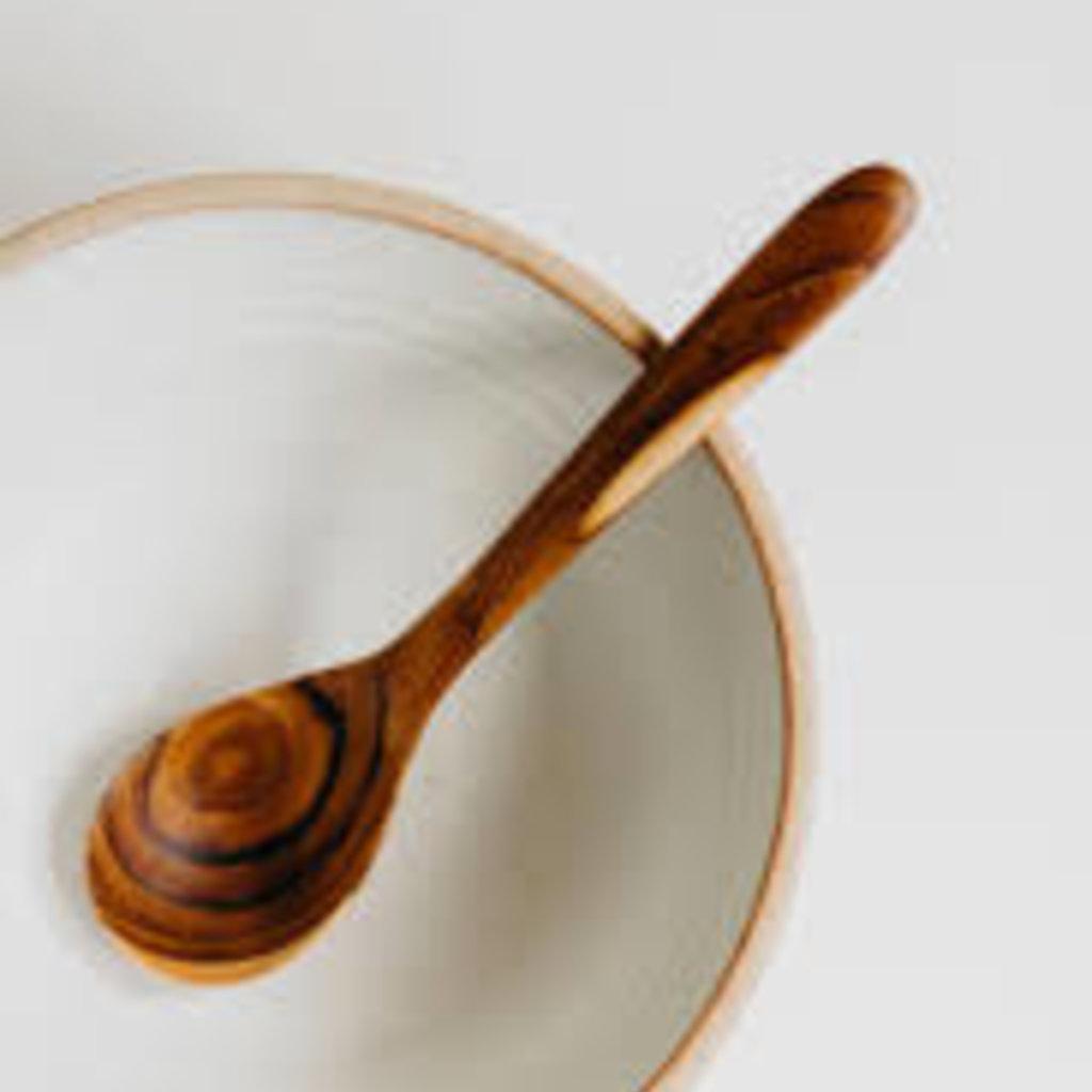 Teak Curved Spoon