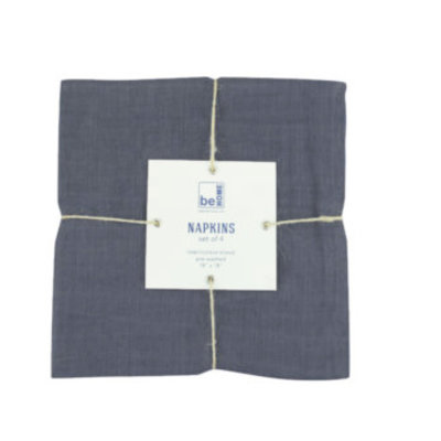 BeHome Linen Napkins Charcoal set of 4