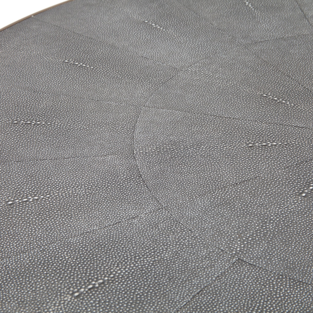 Four Hands Shagreen round coffee table