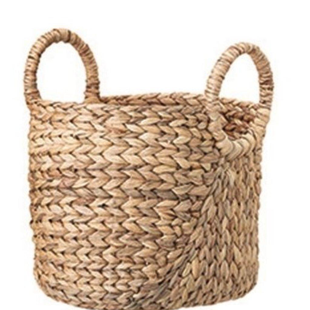 "Bloomingville 11"" Round Seagrass w/handles Baskets"