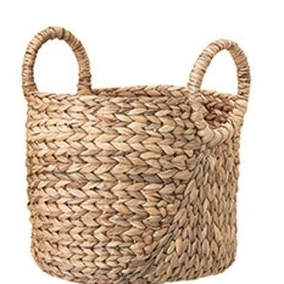 "Bloomingville 11"" Round Seagrass w/handles Baskets"