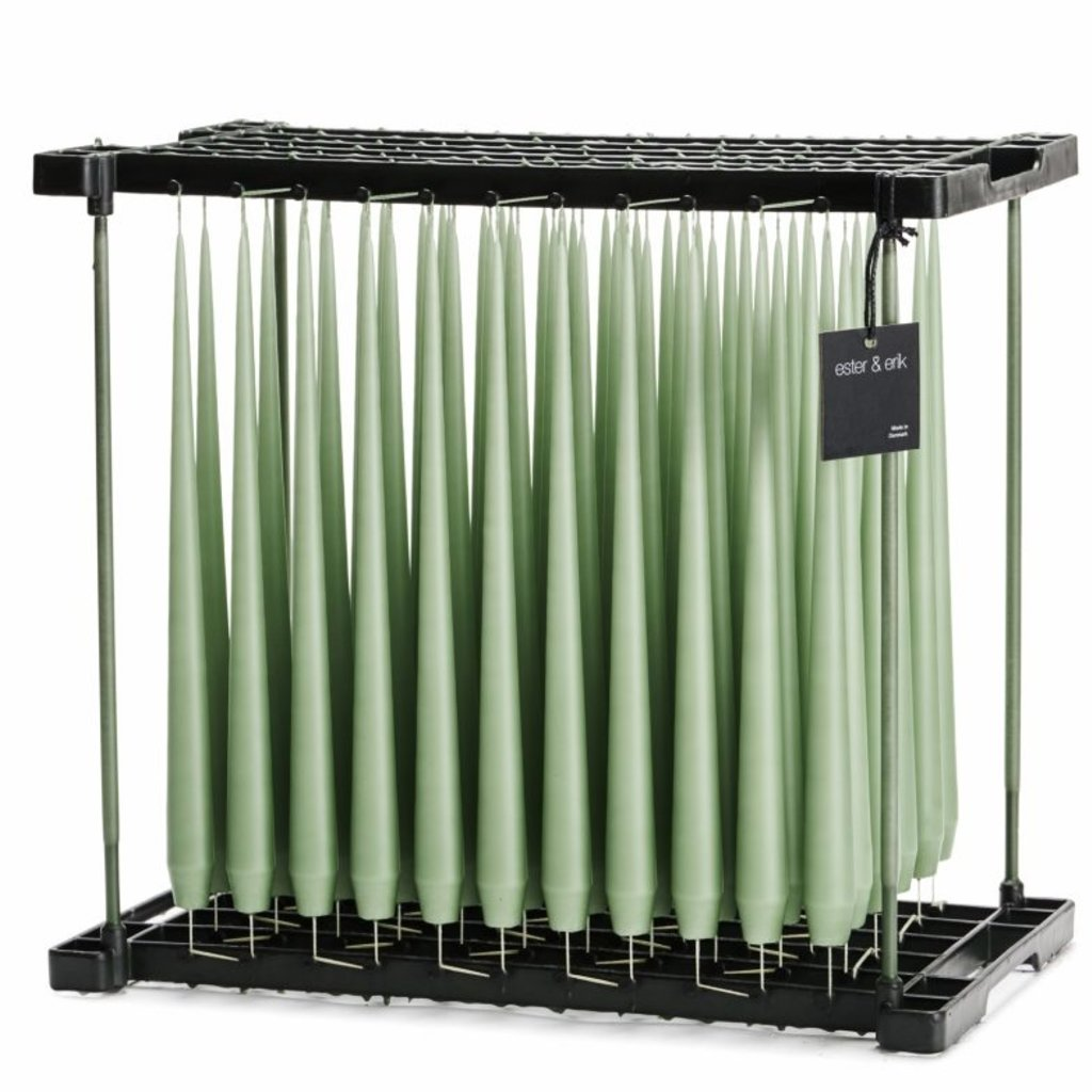 Ester&Erik E&E - Taper Candle -  Dust Green - 32cm