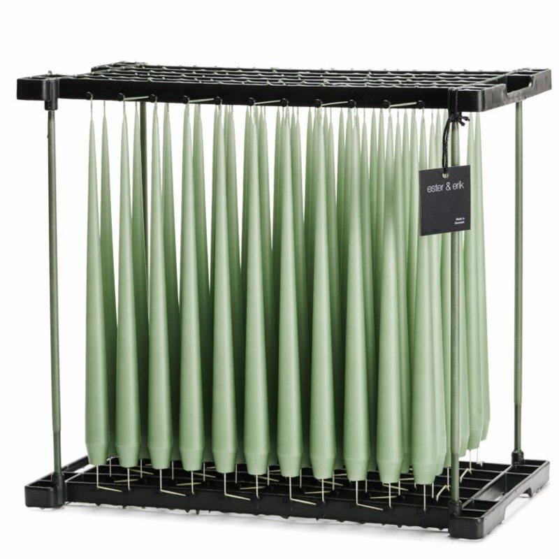 E&E - Taper Candle -  Dust Green - 32cm