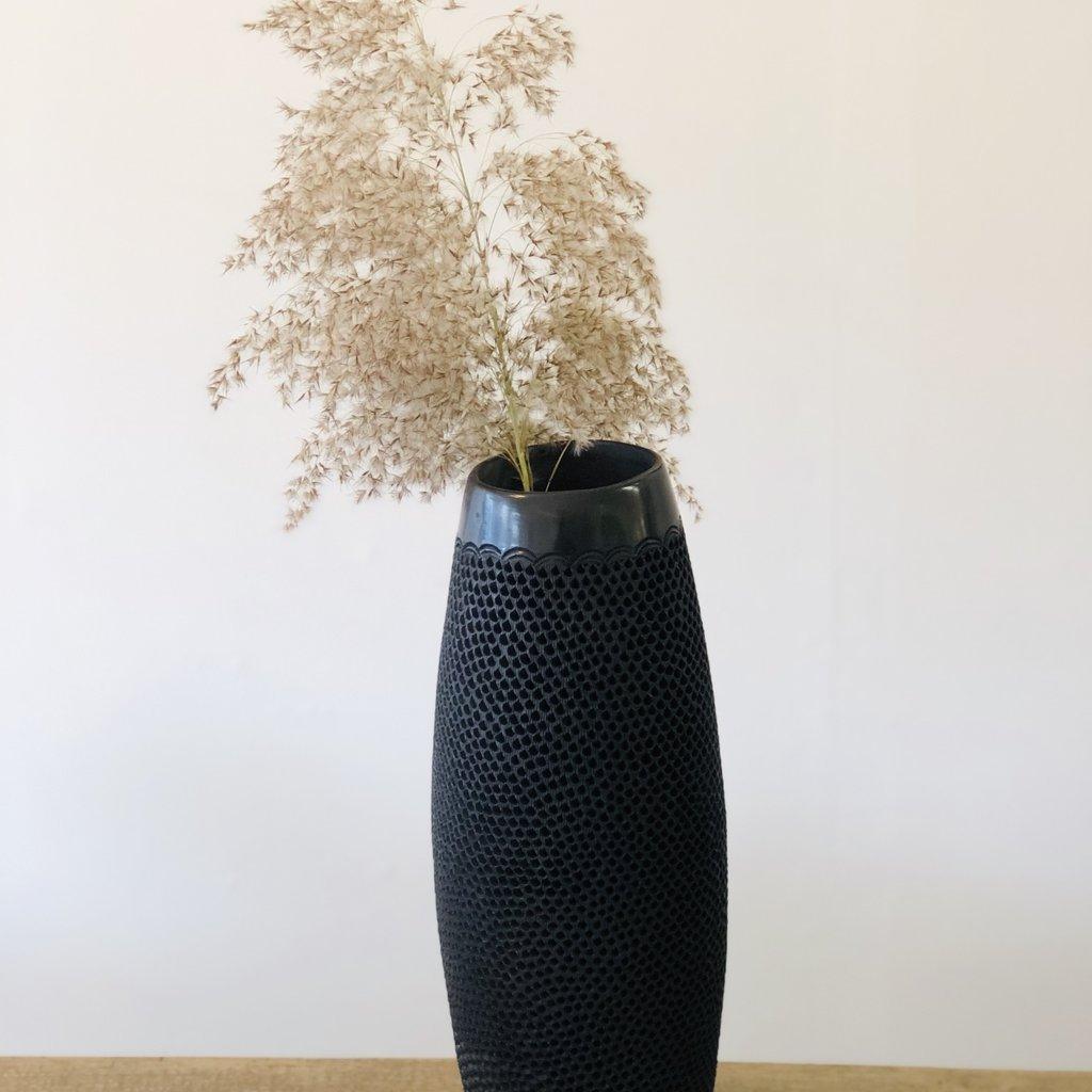 NOMAD Oaxaca Black Clay Vase